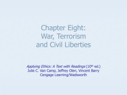 Chapter Eight: Terrorism and Civil Liberties