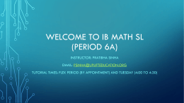 Welcome to Ib Math Studies