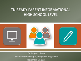 TN Ready Parent Meeting PowerPoint 19Nov2015