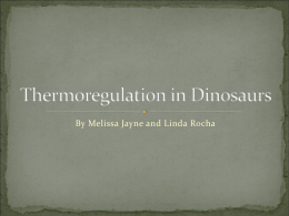 Thermoregulation in Dinosaurs