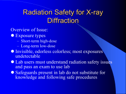 Radiation Safety for X