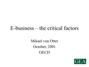 E-business – the critical factors
