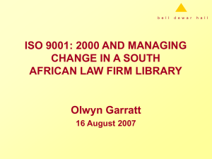 iso 9001: 2000 and change management