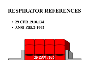 RESPIRATOR REFERENCES - the Mining Quiz List