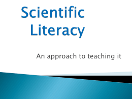 Scientific Literacy - Tasker Milward Physics Website