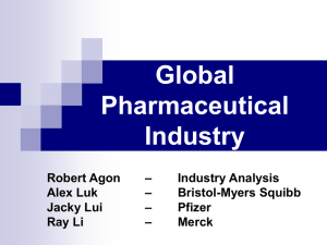 The Pharmaceutical Industry