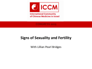 Signs of Sexuality and Fertility