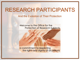 research participants