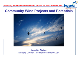 Jennifer States: Community Wind Projects and Potentials