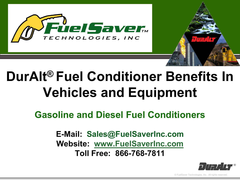 What is DurAlt® Fuel Conditioner?