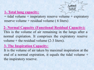 1- Total lung capacity