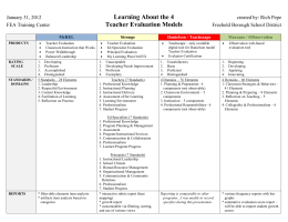 Comparison of 4 Teacher Evaluation Models