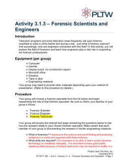 Forensic science homework help