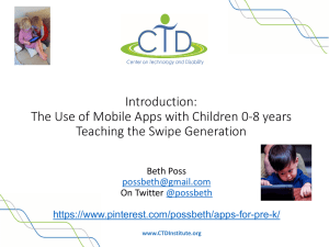 Introduction: The Use of Mobile Apps with Children 0
