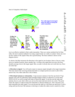 How to Triangulate a Radio Signal