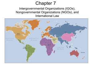 Chapter 7: IGOs, NGOs, and Int'l Law