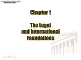 The Legal and International Foundation