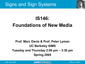 Signs and Sign Systems