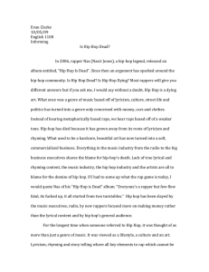 Is Hip Hop Dead Final paper
