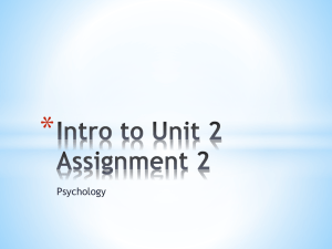 Intro to Unit 2 Assignment 2