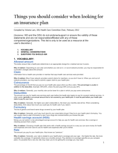 Things you should consider when looking for an insurance plan