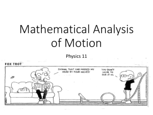 Mathematical Analysis of Motion - Renaud - HTHS