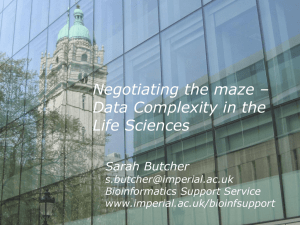 Data Complexity in the Life Sciences