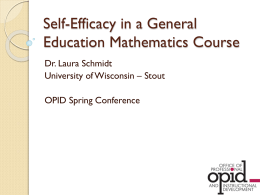 Self-efficacy of General Education Mathematics Students