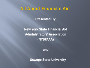 Financial Aid Night 2015