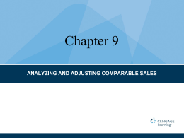 analyzing and adjusting comparable sales