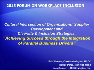 Cultural Intersection of Organizations' Supplier Development and