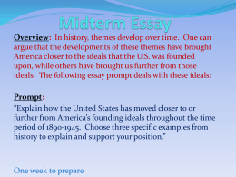 "american"" ideals essay midterm essay powerpoint"