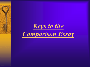What is the Comparison essay?