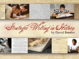 Strategic Writing PowerPoint [10/16/2014]