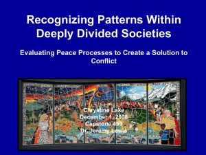 Recognizing Patterns Within Deeply Divided Societies Evaluating
