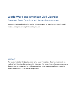 dbq essay american civil liberties in the time of war dbq world war i and american civil liberties crec tah