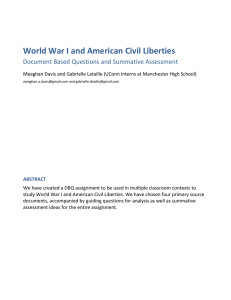 World War I and American Civil Liberties - CREC-TAH