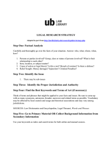 legal research strategy - University of Baltimore School of Law