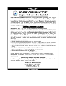 vacancy north south university