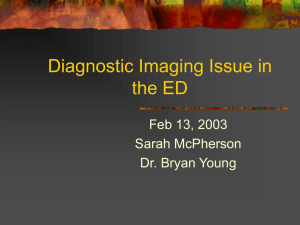 Diagnostic Imaging Issue in the ED