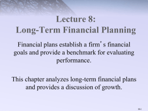 Long-Term Financial Planning