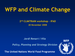 WFP and climate change
