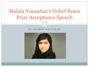 Malala Yousafzai's Speech for the United Nations