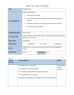 Leader in Me: Lesson Plan Template