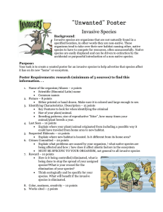 Unwanted Invasive Species