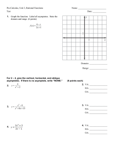 Test A: Algebra II Chapter 9