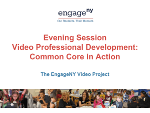 Video Professional Development Presentation
