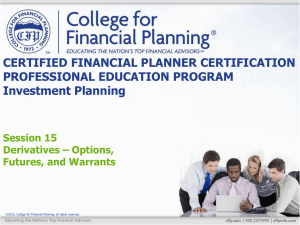 Option Terminology - College for Financial Planning