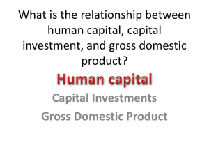 What is the relationship between human capital, capital