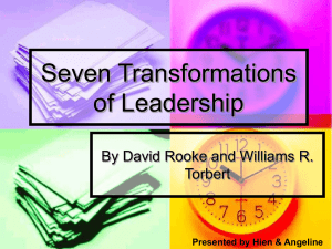 Seven Transformations of Leadership